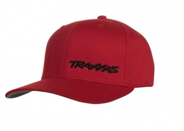 FLEX HAT CURVE BILL RED/BLK LX