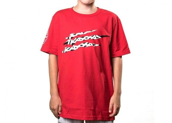 SLASH TEE RED YL